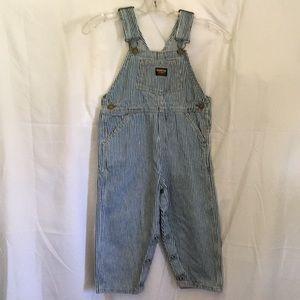 Osh Kosh B' Gosh Stripe Overalls 4T Cotton So Cute